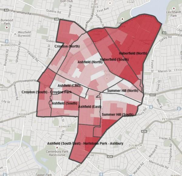 Ashfield household map