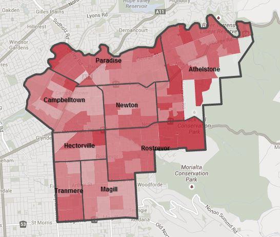 Campbelltown household map