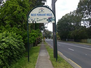 Road Sign Welcome to West Pennant Hills
