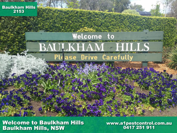 Welcome to Baulkham Hills Sign