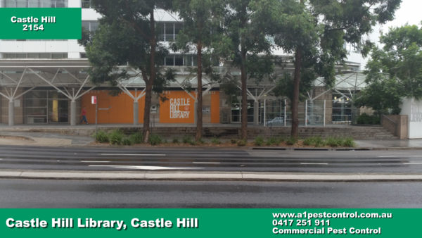Picture of Castle Hill Library taken from a Front Facing Vantage Point