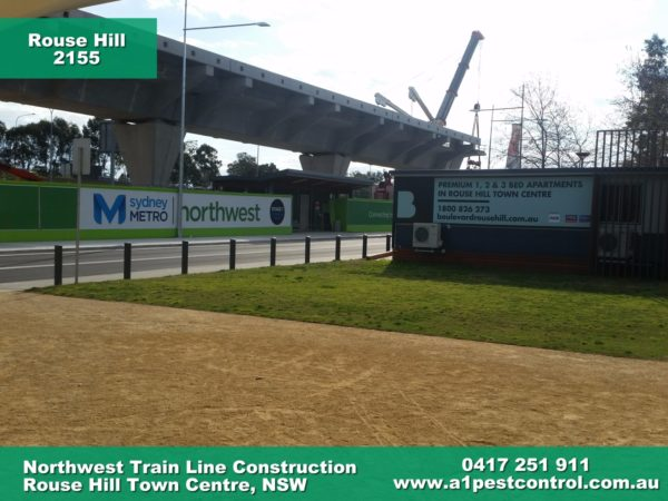 A photo of the Northwest train line construction.