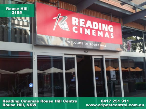 A photo of the Reading Cinemas located in the Rouse Hill town centre.