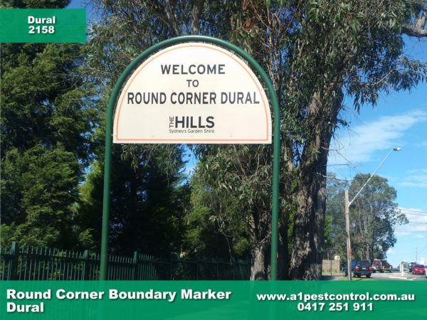 Picture of the Round Corner (Dural) Boundary Signage.