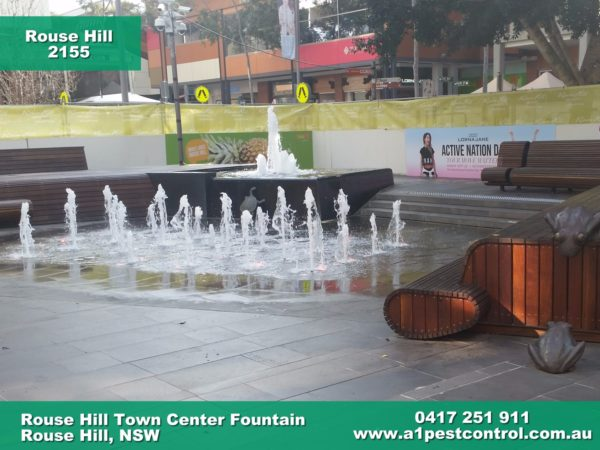 Picture of the Water Feature and Fountains in Rouse Hill Town Centre