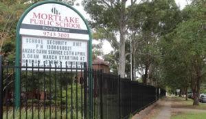 Mortlake Public School Sign
