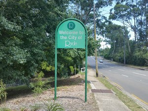 Ryde City Sign