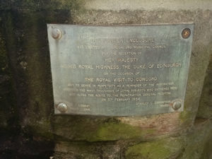 Queen Elizabeth Park Plaque