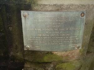 Queen Elizabeth Park Plaque
