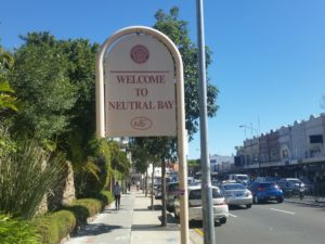 Entering the Suburb of Neutral Bay