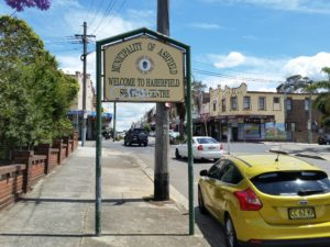 Welcome to Haberfield Sign