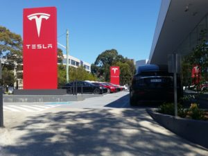 The St Leonards Tesla Dealership
