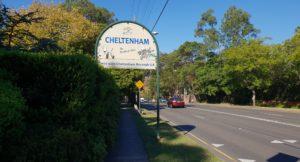 Cheltenham Suburb Sign