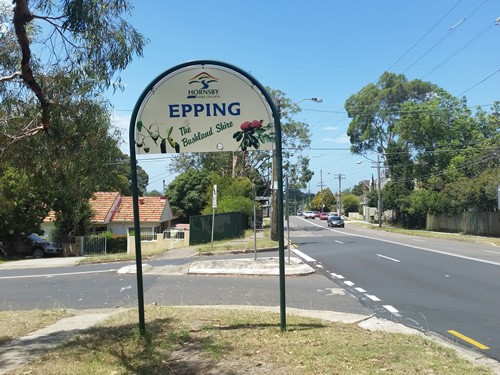 Epping Road Sign