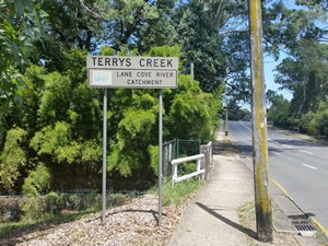Terrys Creek Lane Cove Catchment Sign