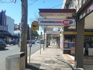 Cremorne Shops in Military Road