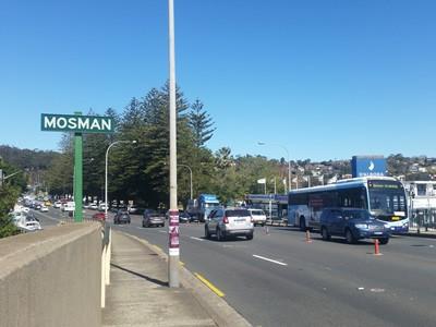 Mosman Road Sign